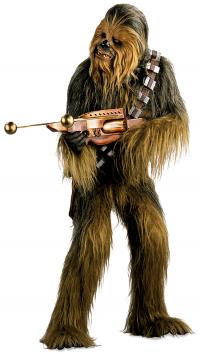 chewbaca promo stil shooting a gun star wars