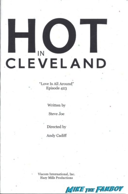 hot in cleveland logo script page rare