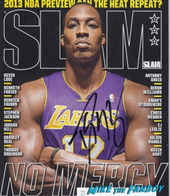 dwight howard signed autograph magazine rare promo hot basketball player