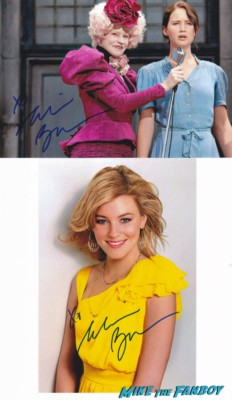 Elizabeth Banks signed autograph photo rare hot sexy singer photo shoot