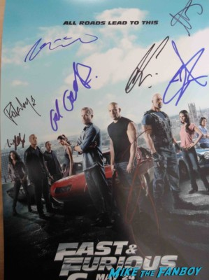fast 6 signed autograph poster vin diesel michelle rodriguez fast and furious premiere los angeles vin diesel hot (25)