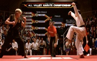 karate-kid-crane-kick william zabka johnny larence rare promo the karate kid