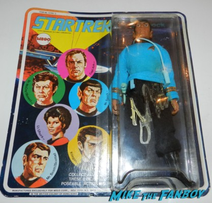 1974 mego star trek mr. spock figure signed by leonard nimoy signed autograph mego star trek figure rare promo leonard nimoy signing autographs star trek q and a capetown film festival