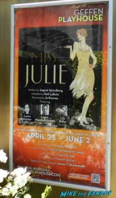 miss julie play poster geffen theater logan marshall green freddie rodriguez signing autographs