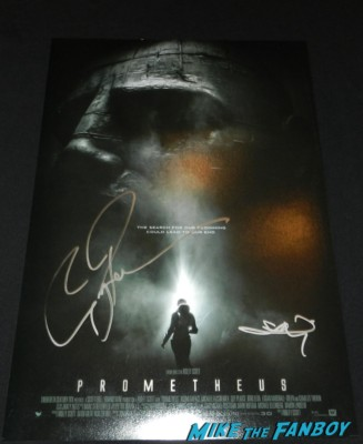 logan marshall green signed prometheus mini poster freddie rodriguez signing autographs 023