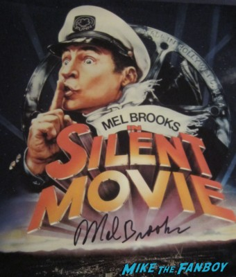 mel brooks signed autograph silent movie laserdisc poster rare promo Mel brooks silent movie rare promo press still hot rare photo