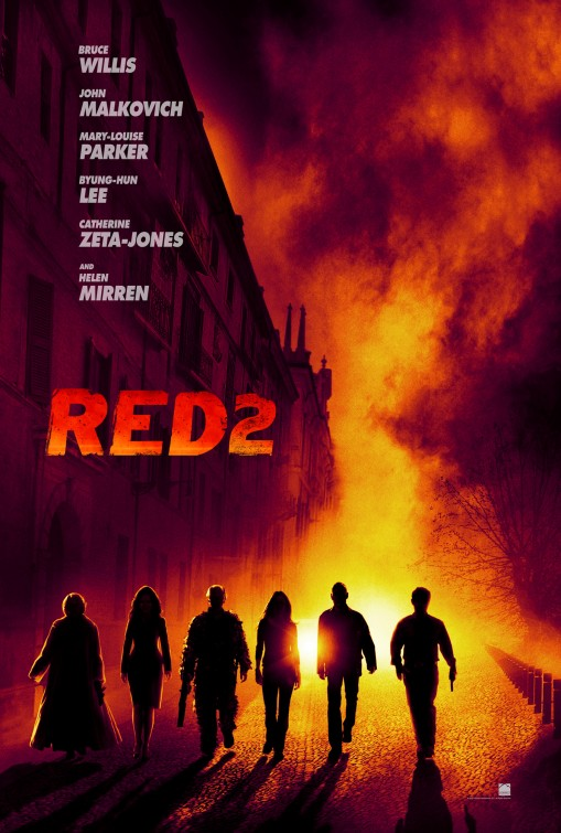 red_two one sheet movie poster rare red_two Anthony hopkins Red 2 mary louise parker individual movie poster one sheet hot sexy rare promo