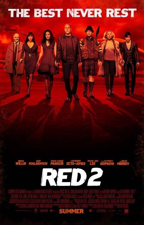 red_two Anthony hopkins Red 2 mary louise parker individual movie poster one sheet hot sexy rare promo