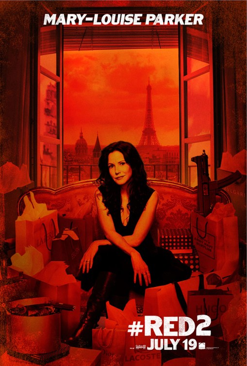 Red 2 mary louise parker individual movie poster one sheet hot sexy rare promo