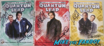 quantum leap signed autograph dvd covers rare promo scott bakula siging autographs for fans (4)