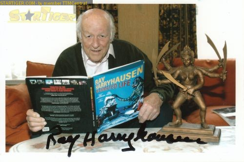 Ray Harryhausen signed autograph photo rare clash of the titans rare jason and the argonaughts
