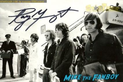 Ray Manzarek signed autograph the doors photo rare promo