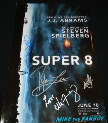 bruce greenwood jj abrams signed super 8 poster star trek into darkness movie premiere signing autographs chris 149
