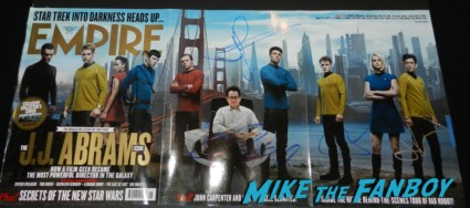 empire magazine signed chris pine jj abrams karl urban alice eve star trek into darkness movie premiere signing autographs chris 152