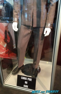 star trek into darkness prop and costume display chris pine captain kirk outfit benedict cumberbatch khan outfit rare
