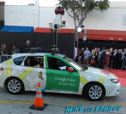 the google streetview car arriving to the internship movie premiere vince vaughn signing autographs 087
