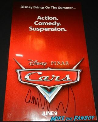owen wilson signed autograph signature cars teaser mini poster the internship movie premiere vince vaughn signing autographs 115
