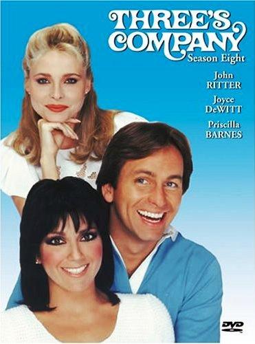 Three's Company season 8 dvd cover package rare promo