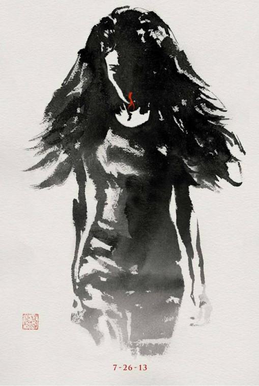 viper yukio wolverine japanese paint brush design movie poster rare hot hugh jackman