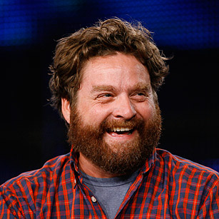 Zach Galifianakis rare promo headshot the hangover rare hot due date