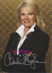 Candice Bergen pre-print photo rare signature