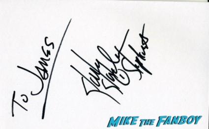 Joey Jordison of Slipknot signing autographs for fans rare