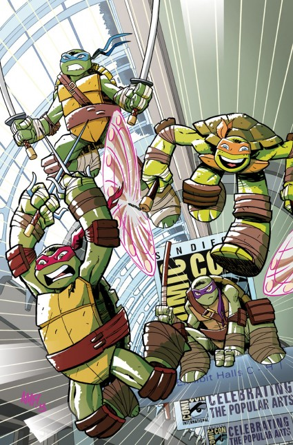 SDCC 2013 TEENAGE MUTANT NINJA TURTLES: THE NEW ANIMATED ADVENTURES #1 EXCLUSIVE COVER