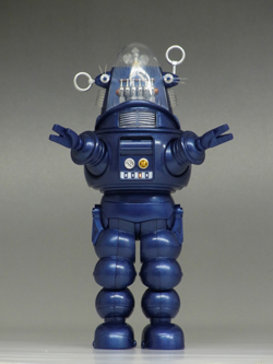 SDCC 2013 ROBBY THE ROBOT DIE-CAST FIGURE -- PREVIEWS EXCLUSIVE BLUE VERSION