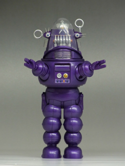 SDCC 2013 ROBBY THE ROBOT DIE-CAST FIGURE -- PREVIEWS EXCLUSIVE PURPLE VERSION