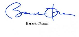 President Barack obama signature autograph pre-print