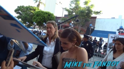 emma watson signing autographs  at the this is the end movie premiere in westwood