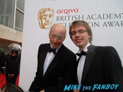 Charles Dance signing autographs The Bafta Awards 2013 rare promo james attends the awards show