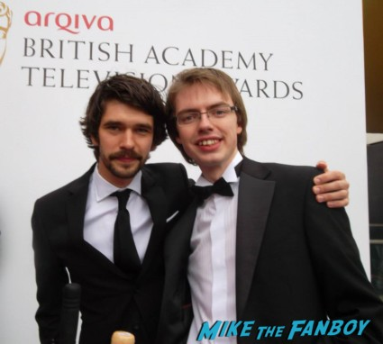 Ben Whishaw signing autographs The Bafta Awards 2013 rare promo james attends the awards show