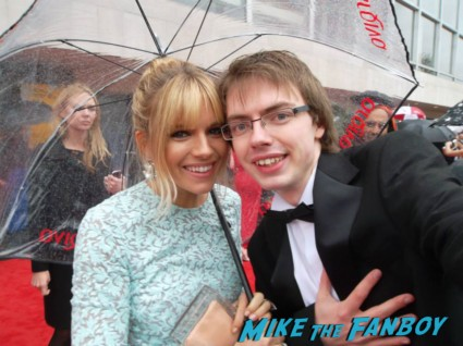 Sienna Miller signing autographs The Bafta Awards 2013 rare promo james attends the awards show