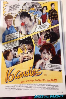 16 candles rare promo mini movie poster Kelly LeBrock & Anthony Michael Hall in Weird Science