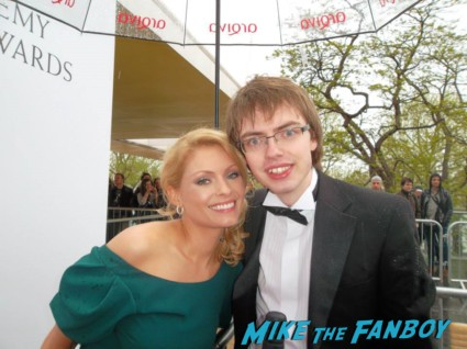 MyAnna Buring signing autographs The Bafta Awards 2013 rare promo james attends the awards show