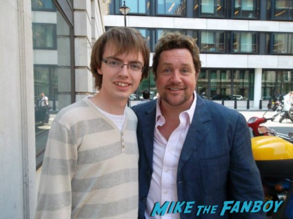 Michael Ball signing autographs for fans rare promo rare