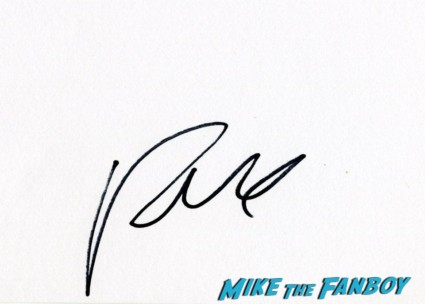 russell brand signature autograph rare hand signed card
