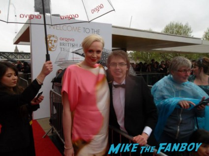 Michelle Collins signing autographs The Bafta Awards 2013 rare promo james attends the awards show