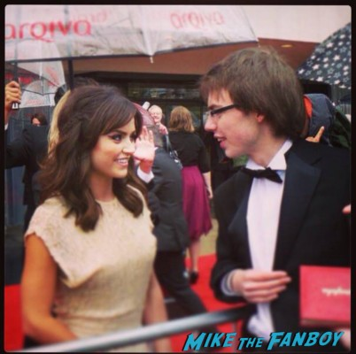 Jenna Louise Coleman signing autographs The Bafta Awards 2013 rare promo james attends the awards show