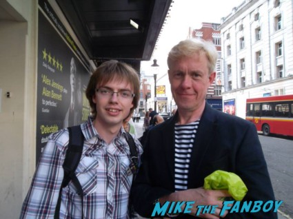 Alex Jennings signing autographs for fans in london rare