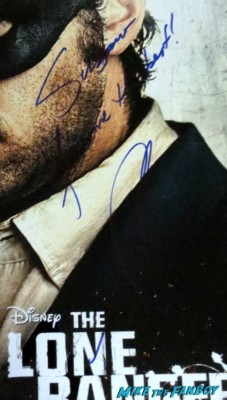 Armie Hammer signed autograph the lone ranger promo mini movie poster promo
