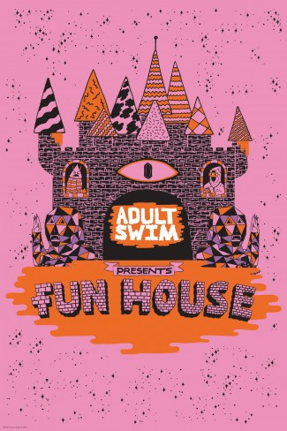 AS Funhouse adult swim funhouse sdcc 2013 event jump house rare