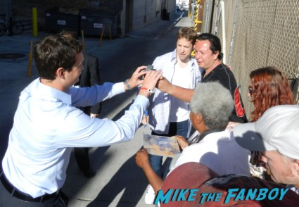 Race Car driver Brad Keselowski signing autographs Anna Paquin signing autographs for fans jimmy kimmel true blood 003
