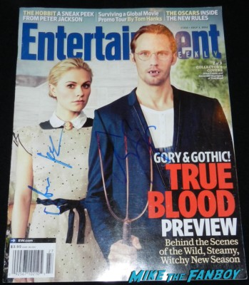 Anna Paquin signed autograph entertainment weekly magazine cover alexander skarsgard signing autographs for fans jimmy kimmel true blood 047