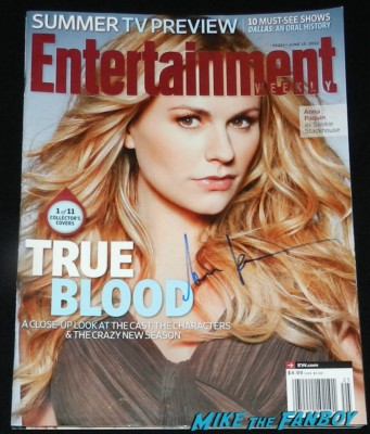 Anna Paquin signed entertainment weekly magazine cover signing autographs for fans jimmy kimmel true blood 053