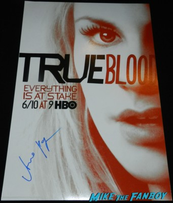 Anna Paquin signed true blood season 5 promo poster signing autographs for fans jimmy kimmel true blood 054