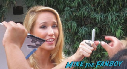 Anna camp signing autographs for fans true blood season 6 premiere rare promo hot signing twoaa
