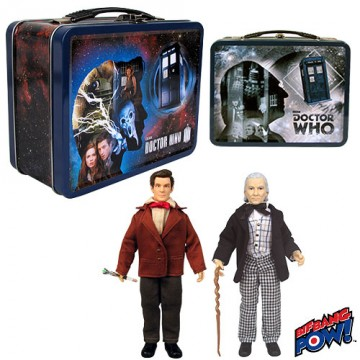 Doctor Who 1st and 11th Doctor 8-inch Action Figures in Tin Tote