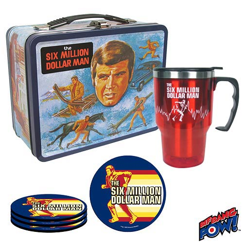 the six million dollar man lunchbox rare lee majors comic con promo